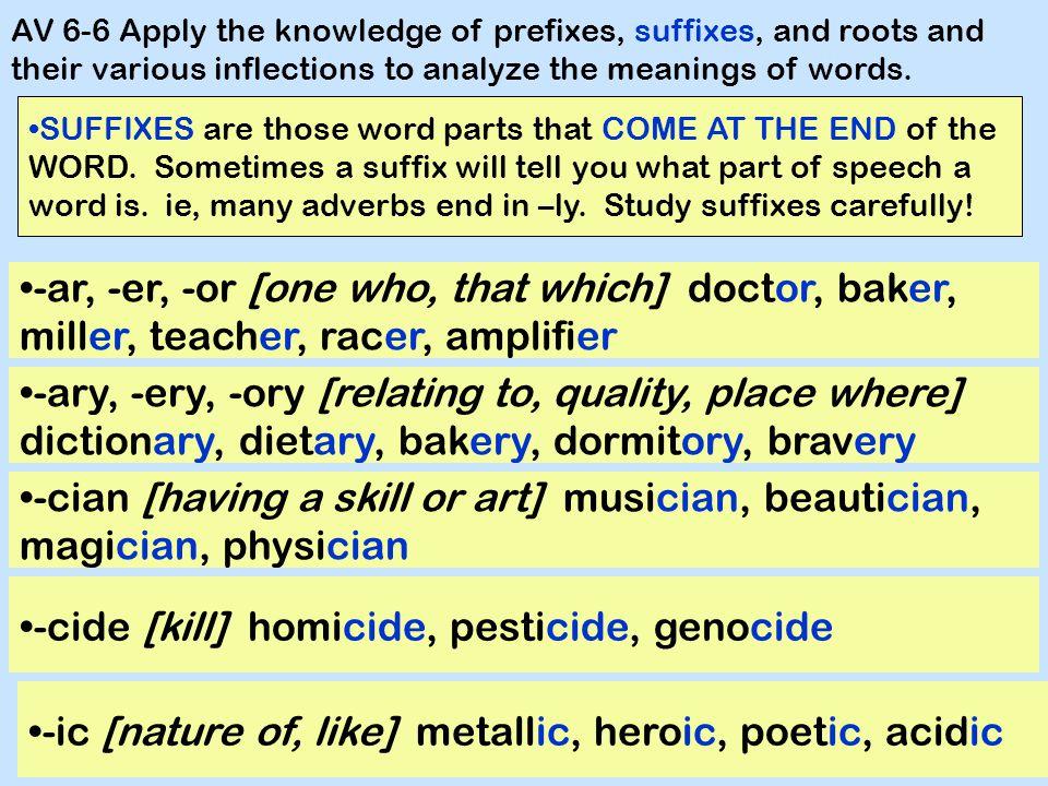 -cide [kill] homicide, pesticide, genocide